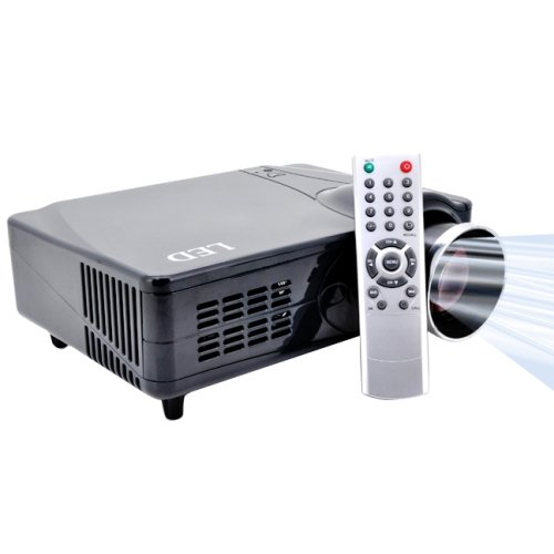 2200 Lumens 640 X 480P 5.0 Inch Lcd Panel Led Home Theater Projector With Remote Control, Support Hdmi / Vgai / S-Video / Ypbpr/ Analog Tv Input, 1000:1 (Prj-D9Hb)