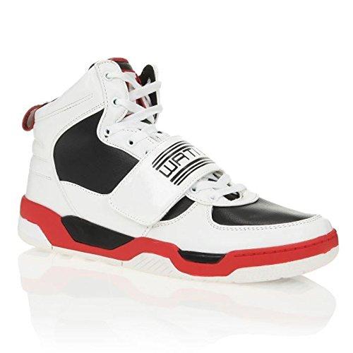 Wati B - Sneaker Uomo , Bianco (Blanc, noir et rouge), 42