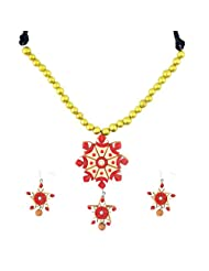 "ARTWOOD ""Sone Rang Ki Chidiya"" 3-piece TerraCotta Jewellery Set"