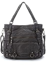 Slouch Pocket Studded Shopper Bag [T83-5021D-S]