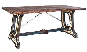 industrie design esstisch tisch massiv holz eisen look. Black Bedroom Furniture Sets. Home Design Ideas