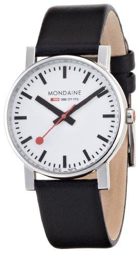 Mondaine - A658.30300.11SBB - Montre Homme - Quartz - Analogique - Bracelet Cuir Noir