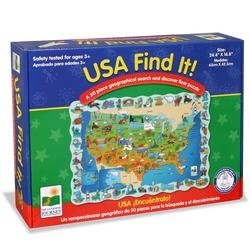 Cheap The Learning Journey Find It! USA Floor Puzzle (B000F6E4DI)