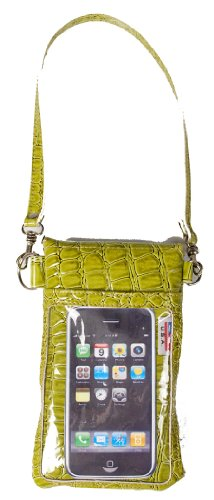 G-mate Luxury Croc Green Cell Phone Case/bag/pouch/carrier All in One Design