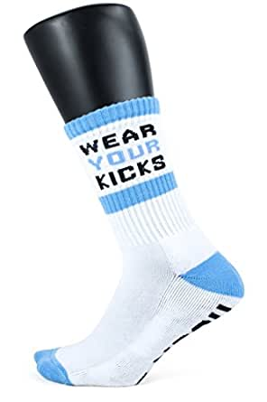 Rock 'Em Apparel Wear Your Kicks Custom Athletic Crew Socks - L/XL (9