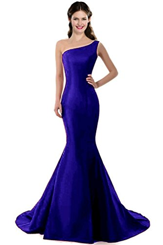 Color E Dress DESIGN Brief Elegant Mermaid One-Shoulder Evening Dress Size 16