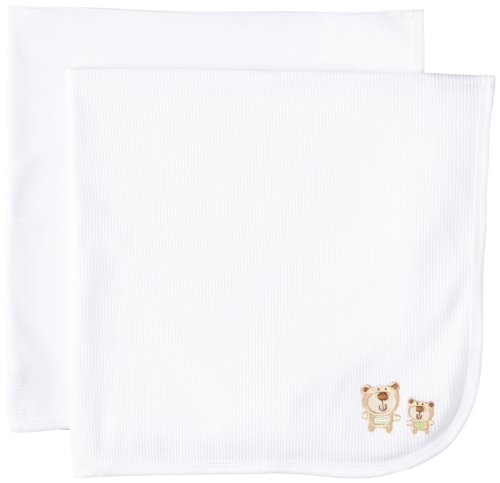 Gerber Unisex Baby 2 Pack Receiving Blanket, White, One Size - 1
