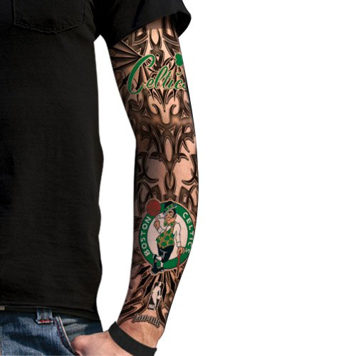Amazon.com : Boston Celtics Light Undertone Tattoo Sleeve : Basketball