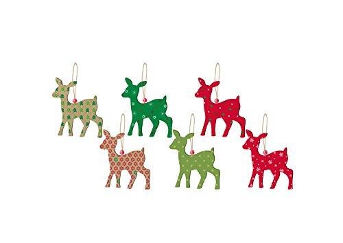 SUNBEAUTY 「12枚セット」可愛い麋鹿 ヘラジカ クリスマス雑貨 ツリー飾り付け ペーパー インテリア ウェディング 誕生日会の飾り付け 店のディスプレイ 写真小道具 ハンギング