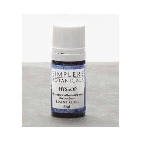 Essential Oil Hyssop Organic Simplers Botanicals 5 ml Liquid WLM