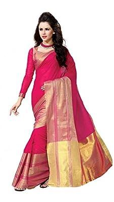 jashvi creation Women's Cotton Silk Saree