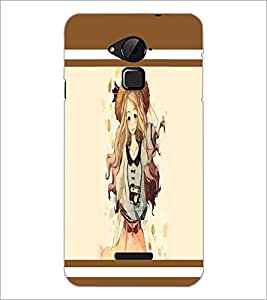 PrintDhaba Hat Girl D-1378 Back Case Cover for COOLPAD NOTE 3 LITE (Multi-Coloured)