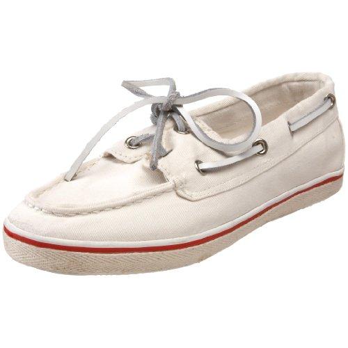 Steve Madden Women's Yachtt Boat Shoe,White,7.5 M US