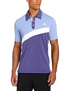 Adidas Golf Mens Climalite Angular Color Blocked Jersey Polo by adidas