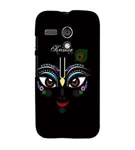 Fuson Premium Artistic Krishna Printed Hard Plastic Back Case Cover for Motorola Moto G