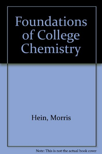 Foundations of College Chemistry (The Brooks/Cole series in chemistry)