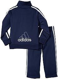 adidas Little Boys\' Core Tricot Set,Navy,3T