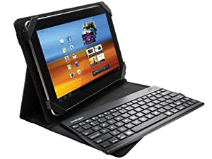 Kensington KeyFolio Pro 2 Universal Removable Keyboard, Case and Stand for 10-Inch Tablets, Black (K39519US)