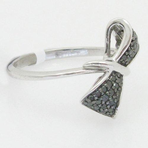Womens Engagement Wedding Fashion Olga .925 Italian Sterling Silver round cut 0.40 ctw diamond ring R-7193W(1)