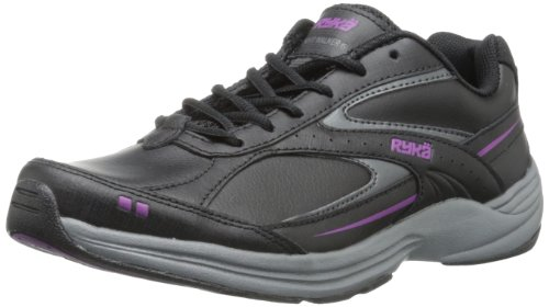 RYKA Women's Sport Walker 6 Walking Shoe,Black/Iron Grey/Spellbound Purple,8.5 M US