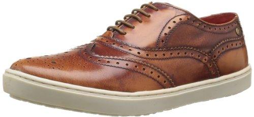 Base London Men's Aldaniti Lace-Up Flats Brown Marron (242 Hi Shine Tan) 12 (46 EU)