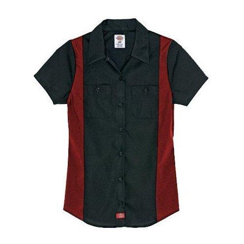 Dickies--Donne fs524a maniche corte di: Industrial Camicia del Blocco nero XXL