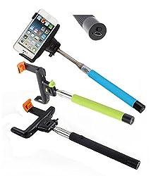 Paracops Universal Selfie Stick With Inbuilt Bluetooth Asorted Color