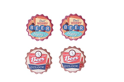 "Coasters - Colorful Solid Round Decorations Decor Novelty Bar Beverage Non Absorb Party Beer Art Coaster - 4 Pc Set - 4"" x .25"""