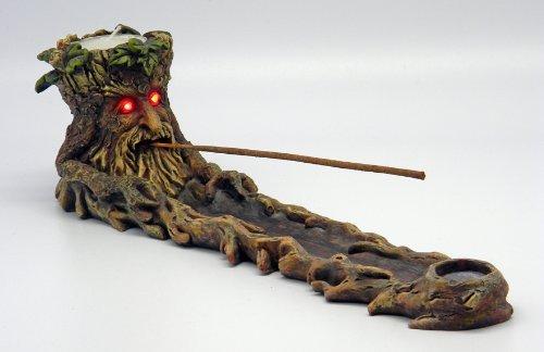 Green Man Incense Burner LED Eyes Green Man Holder