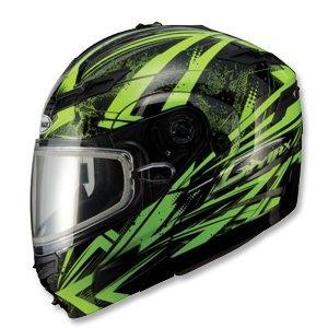Gmax Gm54S Highmark Snowmobile Helmet Green/Black Lg