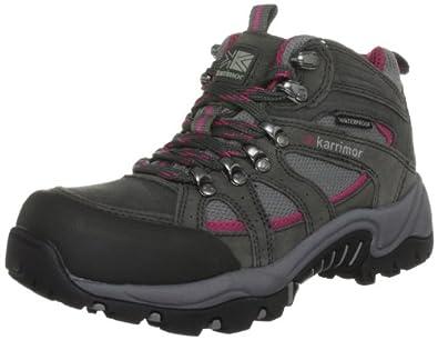 Karrimor Women's Bodmin Mid II Weathertite Dark Grey/Cochineal Walking Boot K301-DGC-146 4.5 UK, 37.5 EU, 5.5 US