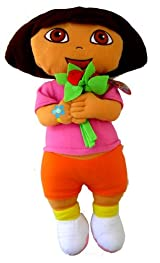 Nick Jr Dora The Explorer Plush Pillow - Dora Love and Flower Cuddle Plush Pillow