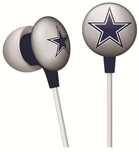 iHip NFF10200DAL NFL Dallas Cowboys Mini Ear Buds, Blue/Silver