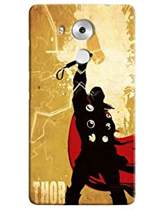 Omnam Thor Cartoon Designer Back Cover Case For Huawei Honor Mate 8