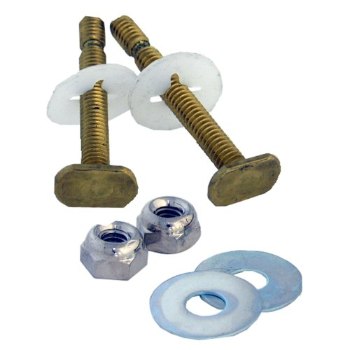 Lasco 04-3647 Solid Brass Snap Off 1/4-Inch by 2-1/4-Inch with Nuts and Washers Toilet Bolts