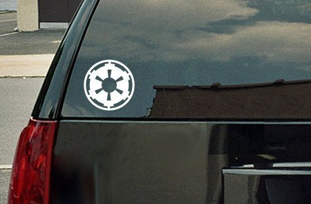 Star Wars Galactic Empire Vinyl Decal - White Window Sticker (Car Window Stickers Star Wars compare prices)