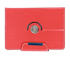 Stylabs Tablet Book Flip Case Cover For Micromax Funbook P365 (Universal) - Red