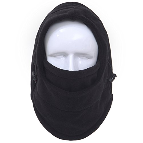 Thermal Tactical Mask Camo Walking Man Motorcycle Fleece Balaclava Windproof Hooded Neck Warmer Ski Scarf Wind Protector Cold Snowboard Headband Warm Winter Hats Thicken Full Face Cover (Black) (Head Cover Camo compare prices)