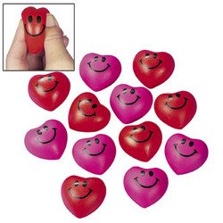 Find Bargain MINI HEART RELAXABLE BALLS (3 DOZEN) - BULK