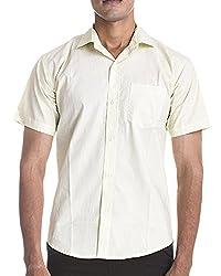 Venga Men's Button Front Shirt (RH002, Green, L)
