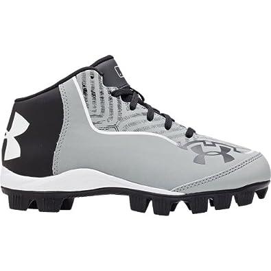 Kids Under Armour Ignite Mid RM CC Baseball Cleats Baseball Grey/Black Size 3