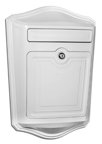 Architectural-Mailboxes-2540W-Maison-Locking-Wall-Mount-Mailbox-White