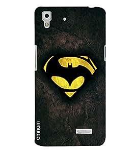 Omnam Batman Logo Printed Designer Back Cover Case for Oppo R7