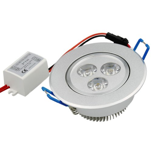 Gbb 3W Led Ceiling Light Downlight, Dimmable, Recessed Lighting Fixture,-40W Halogen Equivalent,Cool White