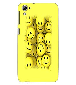 PrintDhaba Smilies D-3230 Back Case Cover for HTC DESIRE 826 (Multi-Coloured)