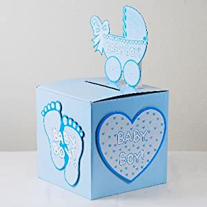 iparty123 baby shower baby boy wishing well box gift card box holder