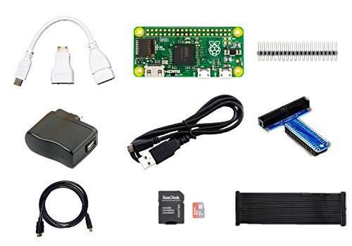 MakerBrightTM Raspberry Pi Zero Bundle w/Pi Zero, 8GB MicroSD, Adafruit T-Cobbler Plus, 5.25V 1A PSU, Mini-HDMI to HDMI Adapter, 6' HDMI Cable, USB OTG Cable