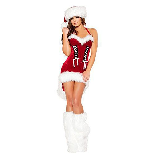 Kinghard Christmas Clothing Stage Performed Christmas Package Christmas Halter Dress (Womens Clothing Package compare prices)