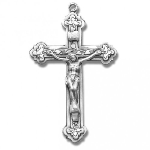 Crucifix, Sterling Silver with Chain