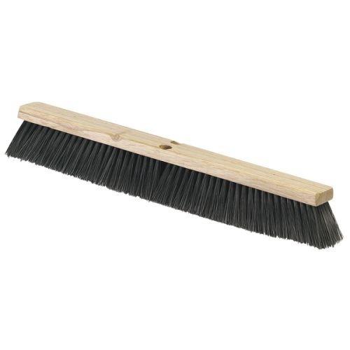 "Carlisle 4507303 Flo-Pac Fine/Medium Floor Sweep, Polypropylene Bristles, 24"" Length, 3"" Bristle Trim, Black front-140525"